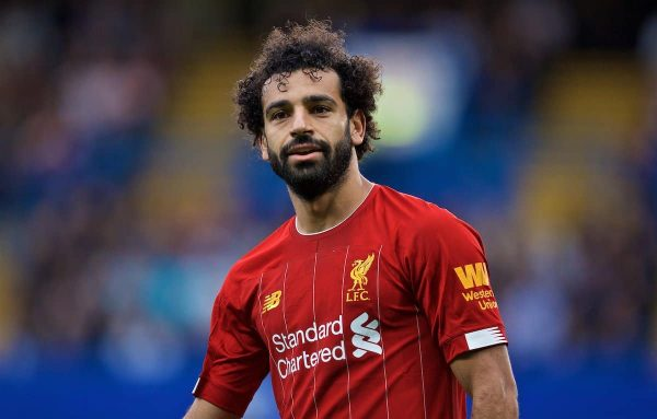 LONDON, ENGLAND - Sunday, September 22, 2019: Liverpool's Mohamed Salah during the FA Premier League match between Chelsea's FC and Liverpool FC at Stamford Bridge. (Pic by David Rawcliffe/Propaganda)