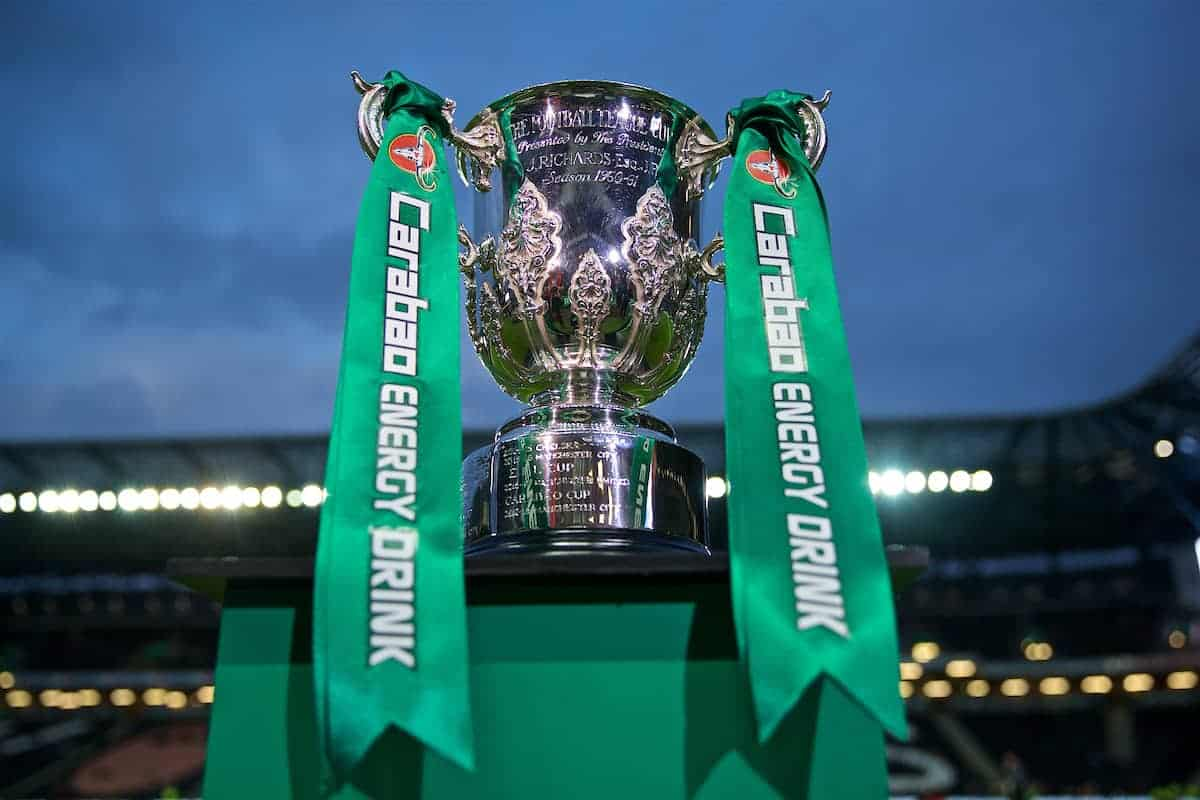 League Cup trophy . (Pic by David Rawcliffe/Propaganda)