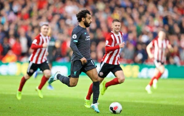 SHEFFIELD, ENGLAND - Thursday, September 26, 2019: Liverpool's Mohamed Salah during the FA Premier League match between Sheffield United FC and Liverpool FC at Bramall Lane. (Pic by David Rawcliffe/Propaganda)