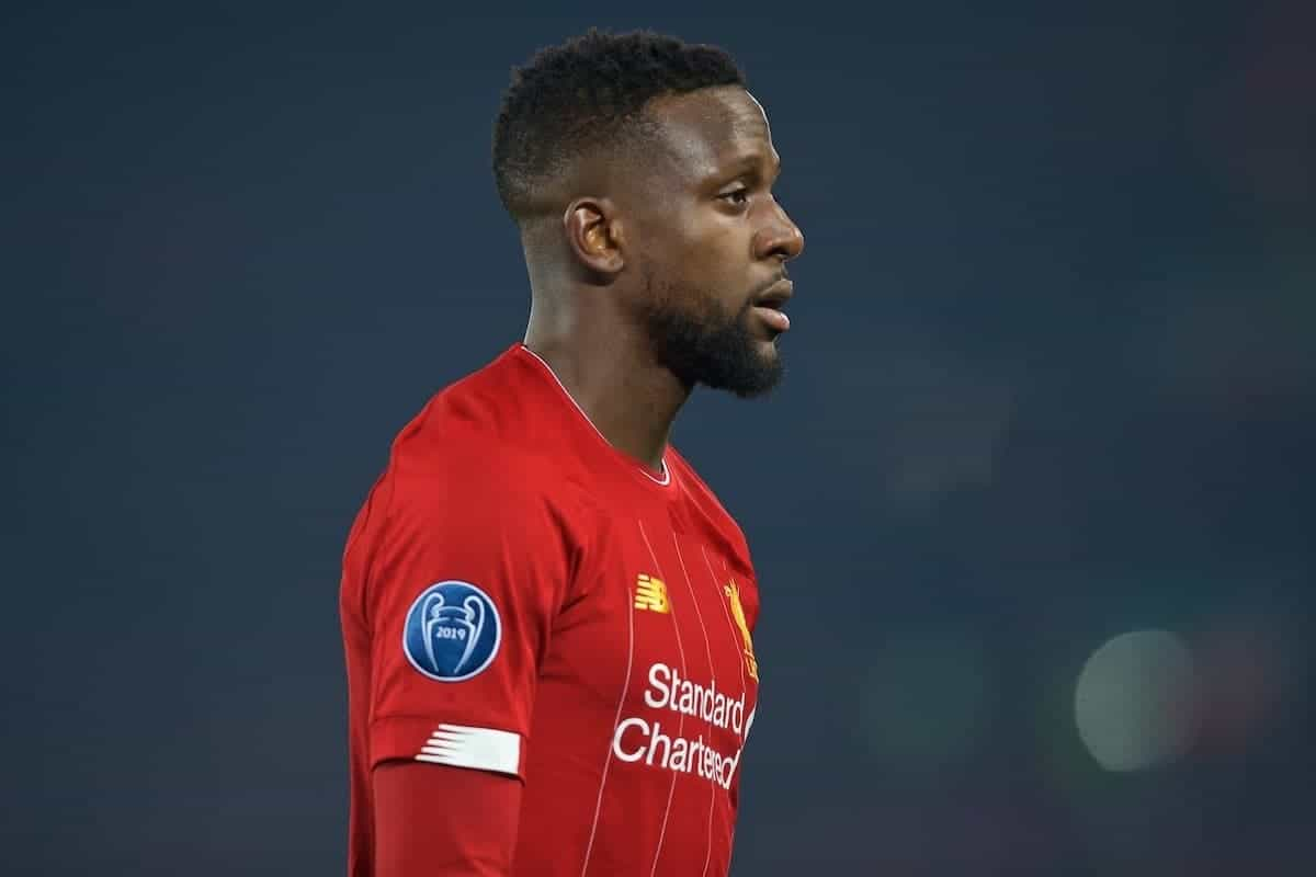 LIVERPOOL, ENGLAND - Tuesday, November 5, 2019: Liverpool's Divock Origi during the UEFA Champions League Group E match between Liverpool FC and KRC Genk at Anfield. (Pic by Laura Malkin/Propaganda)