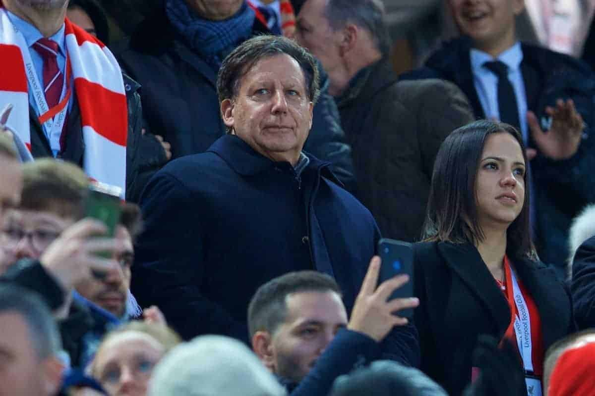 LIVERPOOL, ENGLAND - Sunday, November 10, 2019: Liverpool's co-owner and NESV Chairman Tom Werner during the FA Premier League match between Liverpool FC and Manchester City FC at Anfield. (Pic by David Rawcliffe/Propaganda)