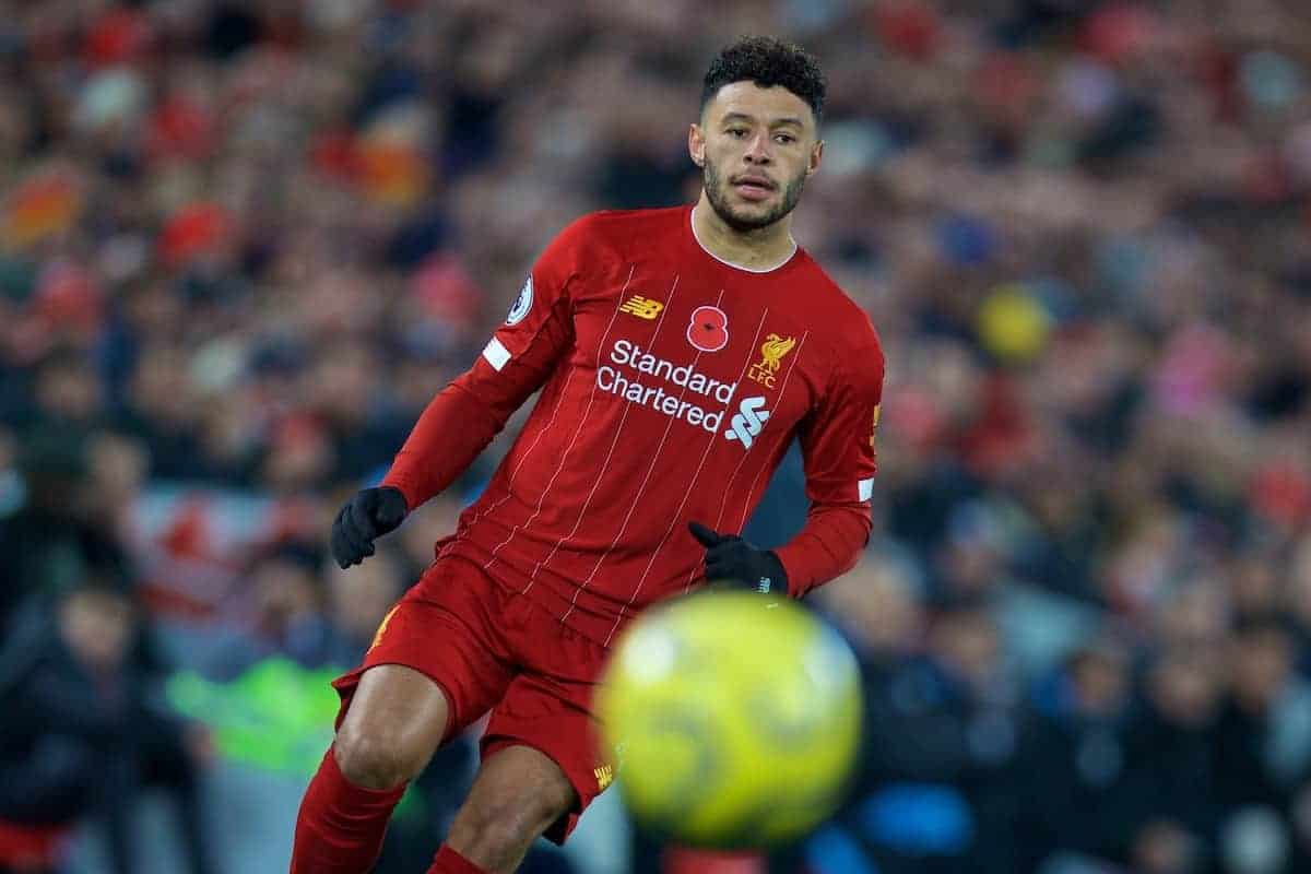 LIVERPOOL, ENGLAND - Sunday, November 10, 2019: Liverpool's Alex Oxlade-Chamberlain during the FA Premier League match between Liverpool FC and Manchester City FC at Anfield. (Pic by David Rawcliffe/Propaganda)
