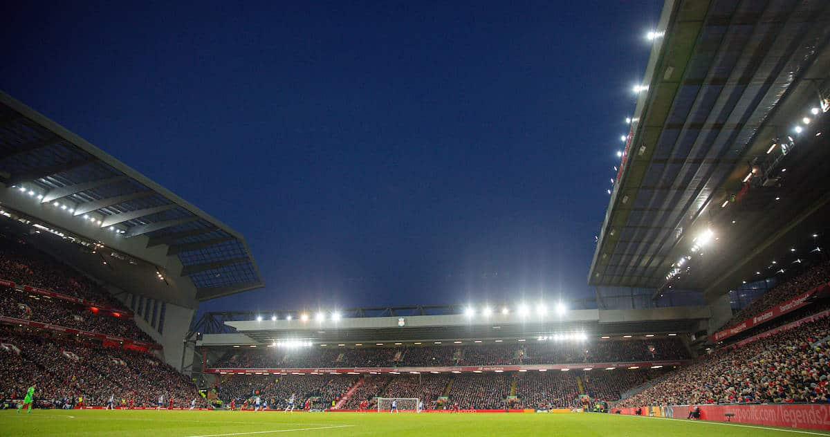 LIVERPOOL, ENGLAND - Saturday, November 30, 2019: Liverpool's Anfield Road stand during the FA Premier League match between Liverpool FC and Brighton & Hove Albion FC at Anfield. (Pic by David Rawcliffe/Propaganda)