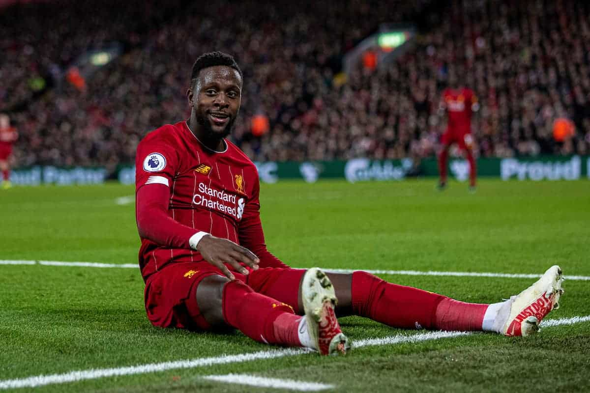 LIVERPOOL, ENGLAND - Wednesday, December 4, 2019: Liverpool's Divock Origi during the FA Premier League match between Liverpool FC and Everton FC, the 234th Merseyside Derby, at Anfield. (Pic by David Rawcliffe/Propaganda)