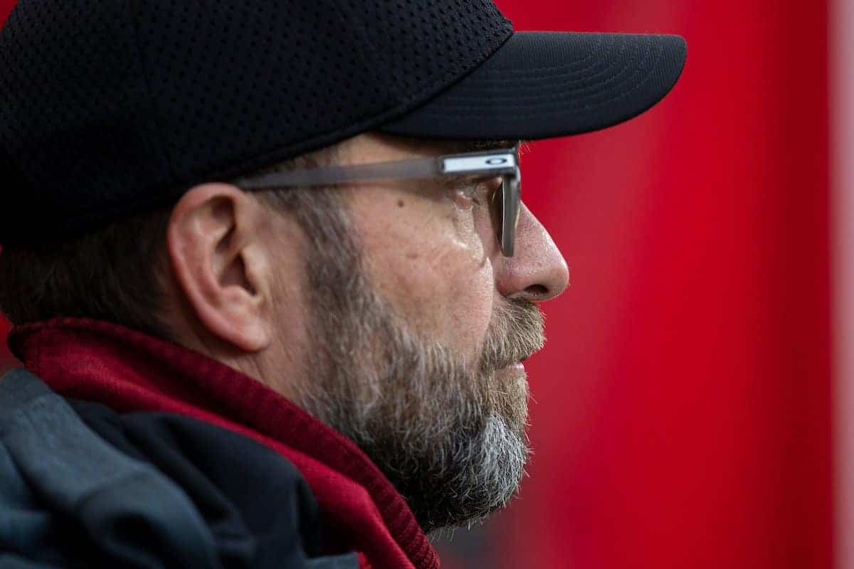 BOURNEMOUTH, ENGLAND - Saturday, December 7, 2019: Liverpool's manager Jürgen Klopp during the FA Premier League match between AFC Bournemouth and Liverpool FC at the Vitality Stadium. (Pic by David Rawcliffe/Propaganda)