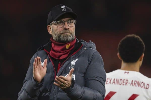 Liverpool's manager Jürgen Klopp celebrates after the FA Premier League match between AFC Bournemouth and Liverpool FC at the Vitality Stadium. Liverpool won 3-0. (Pic by David Rawcliffe/Propaganda)