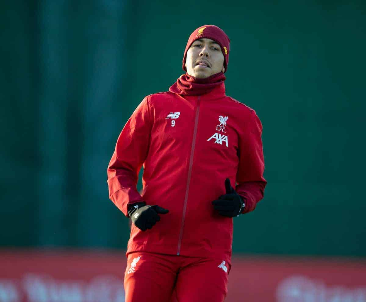 LIVERPOOL, ENGLAND - Monday, December 9, 2019: Liverpool's Roberto Firmino during a training session at Melwood Training Ground ahead of the UEFA Champions League Group E match between FC Salzburg and Liverpool FC. (Pic by David Rawcliffe/Propaganda)