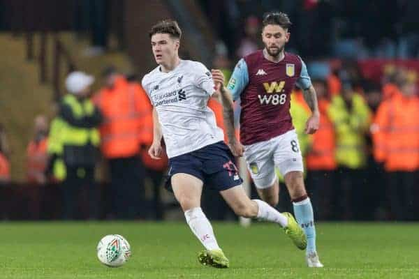 Liverpool's Morgan Boyes during the Football League Cup Quarter-Final between Aston Villa FC and Liverpool FC at Villa Park. (Pic by Paul Greenwood/Propaganda)