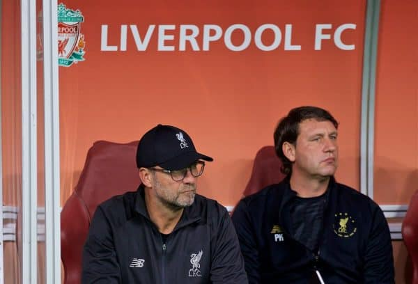 DOHA, QATAR - Wednesday, December 18, 2019: Liverpool's manager Jürgen Klopp before the FIFA Club World Cup Qatar 2019 Semi-Final match between CF Monterrey and Liverpool FC at the Khalifa Stadium. (Pic by David Rawcliffe/Propaganda)