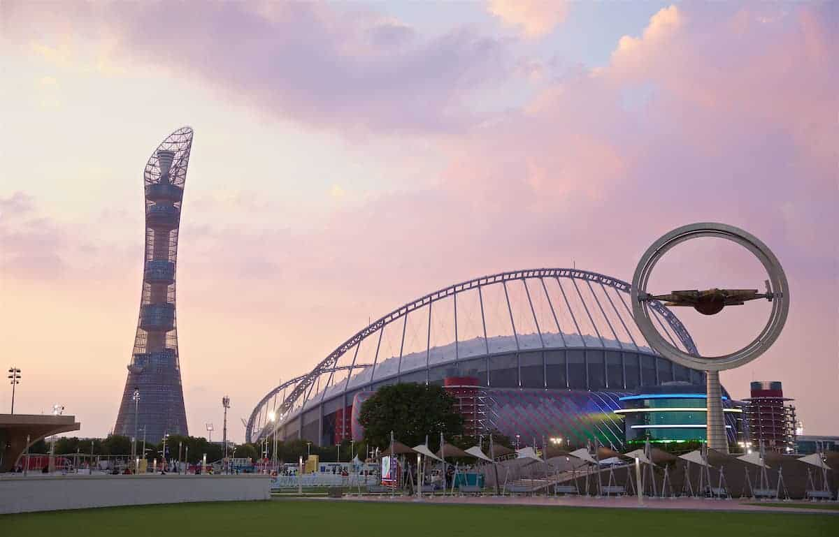 DOHA, QATAR - Saturday, December 21, 2019: A general view of the Khalifa Stadium before the FIFA Club World Cup Qatar 2019 Final match between CR Flamengo and Liverpool FC. (Pic by David Rawcliffe/Propaganda)