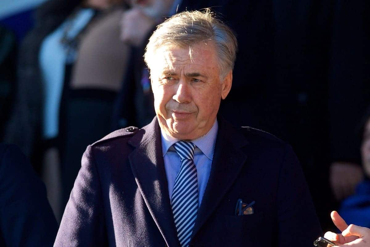 LIVERPOOL, ENGLAND - Saturday, December 21, 2019: New Everton manager Carlo Ancelotti during the FA Premier League match between Everton FC and Arsenal FC at Goodison Park. (Pic by Laura Malkin/Propaganda)