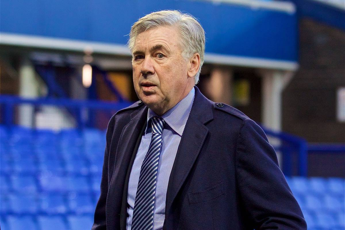 LIVERPOOL, ENGLAND - Saturday, December 21, 2019: Everton's new manager Carlo Ancelotti during the FA Premier League match between Everton FC and Arsenal FC at Goodison Park. (Pic by Laura Malkin/Propaganda)