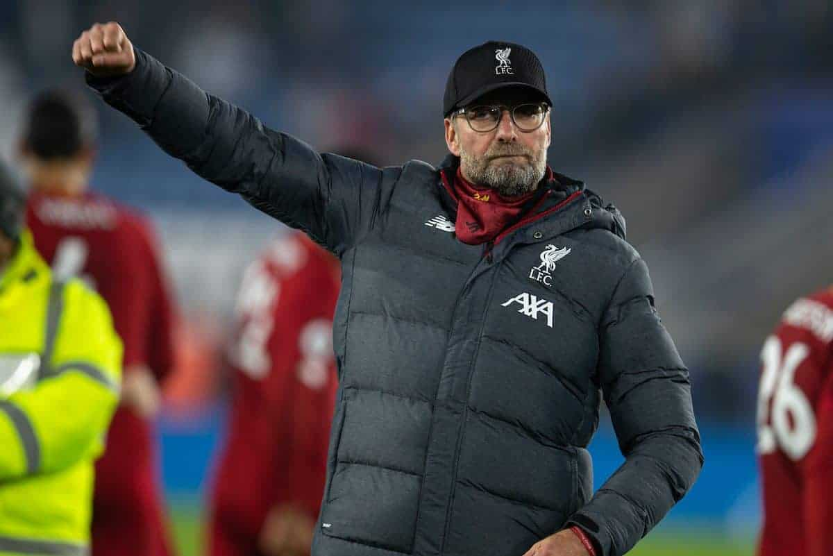LEICESTER, ENGLAND - Thursday, December 26, 2019: Liverpool's xxxx during the FA Premier League match between Leicester City FC and Liverpool FC at the King Power Stadium. (Pic by David Rawcliffe/Propaganda)