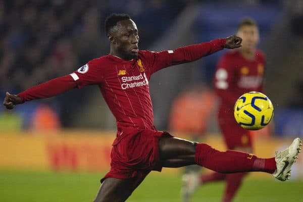 LEICESTER, ENGLAND - Thursday, December 26, 2019: Liverpool's Naby Keita during the FA Premier League match between Leicester City FC and Liverpool FC at the King Power Stadium. (Pic by David Rawcliffe/Propaganda)