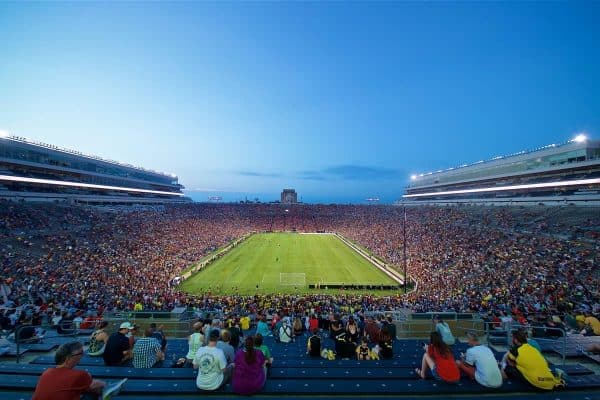 SOUTH BEND, INDIANA, USA - Friday, July 19, 2019: A general view of the Notre Dame Stadium during a friendly match between Liverpool FC and Borussia Dortmund on day four of the club's pre-season tour of America. (Pic by David Rawcliffe/Propaganda)