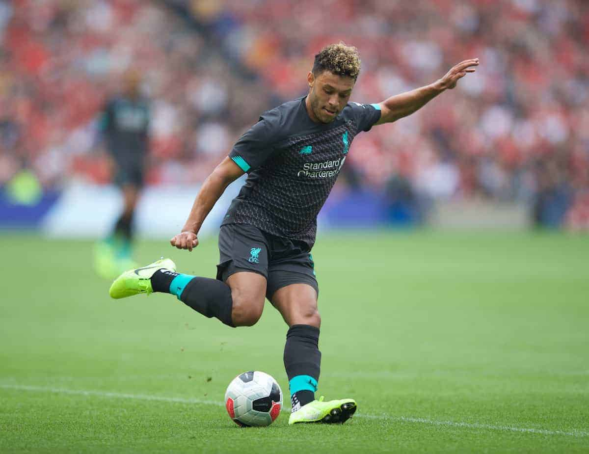 Liverpool's Alex Oxlade-Chamberlain during a pre-season friendly match between Liverpool FC and SSC Napoli at Murrayfield Stadium. (Pic by David Rawcliffe/Propaganda)