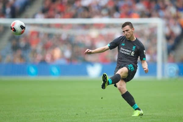 Liverpool's Andy Robertson during a pre-season friendly match between Liverpool FC and SSC Napoli at Murrayfield Stadium. (Pic by David Rawcliffe/Propaganda)