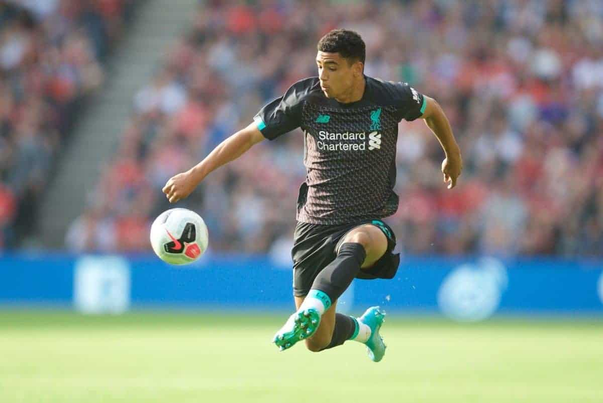 EDINBURGH, SCOTLAND - Sunday, July 28, 2019: Liverpool's Ki-Jana Hoever during a pre-season friendly match between Liverpool FC and SSC Napoli at Murrayfield Stadium. (Pic by David Rawcliffe/Propaganda)