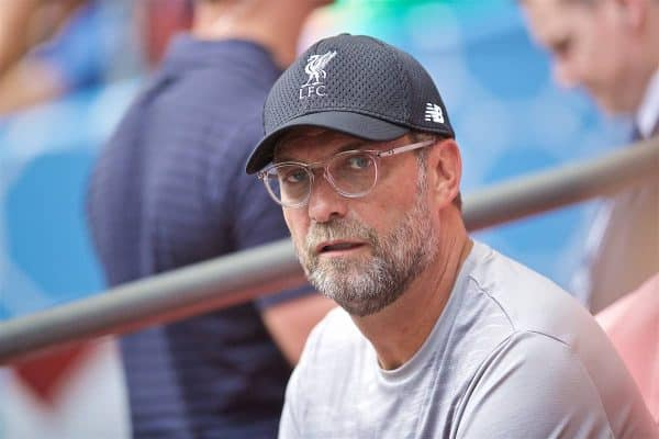 LONDON, ENGLAND - Sunday, August 4, 2019: Liverpool's manager Jürgen Klopp before the FA Community Shield match between Manchester City FC and Liverpool FC at Wembley Stadium. (Pic by David Rawcliffe/Propaganda)