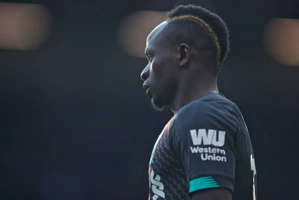 BURNLEY, ENGLAND - Saturday, August 31, 2019: Liverpool's Sadio Mane during the FA Premier League match between Burnley FC and Liverpool FC at Turf Moor. (Pic by David Rawcliffe/Propaganda)