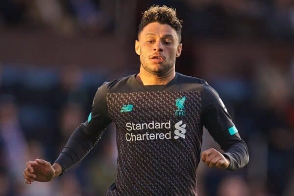 Liverpool's Alex Oxlade-Chamberlain during the FA Premier League match between Burnley FC and Liverpool FC at Turf Moor. (Pic by David Rawcliffe/Propaganda)