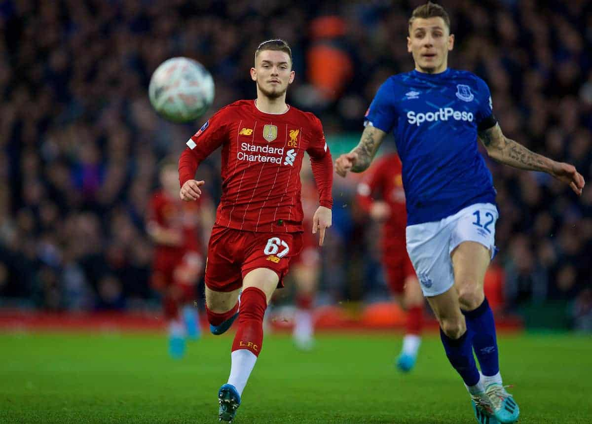 LIVERPOOL, ENGLAND - Sunday, January 5, 2020: Liverpool's Nathaniel Phillips during the FA Cup 3rd Round match between Liverpool FC and Everton FC, the 235th Merseyside Derby, at Anfield. (Pic by David Rawcliffe/Propaganda)