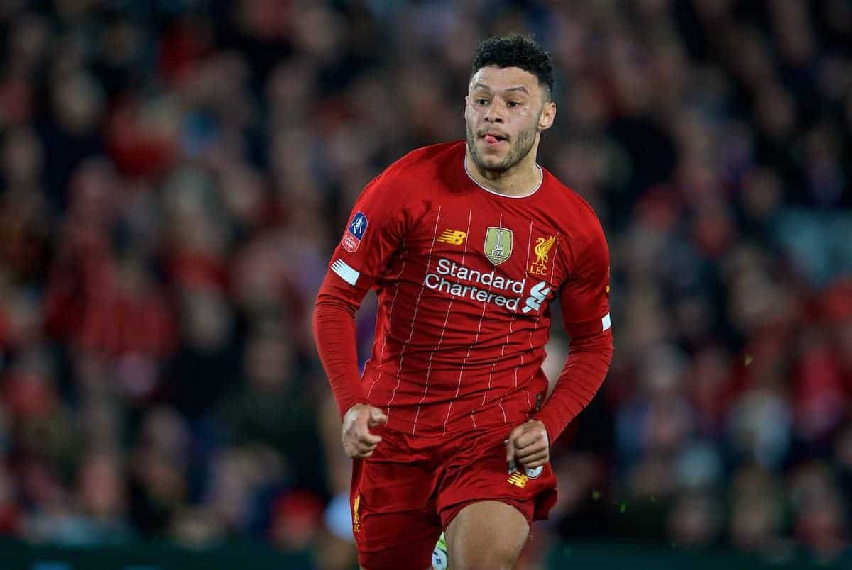 LIVERPOOL, ENGLAND - Sunday, January 5, 2020: Liverpool's Alex Oxlade-Chamberlain during the FA Cup 3rd Round match between Liverpool FC and Everton FC, the 235th Merseyside Derby, at Anfield. (Pic by David Rawcliffe/Propaganda)