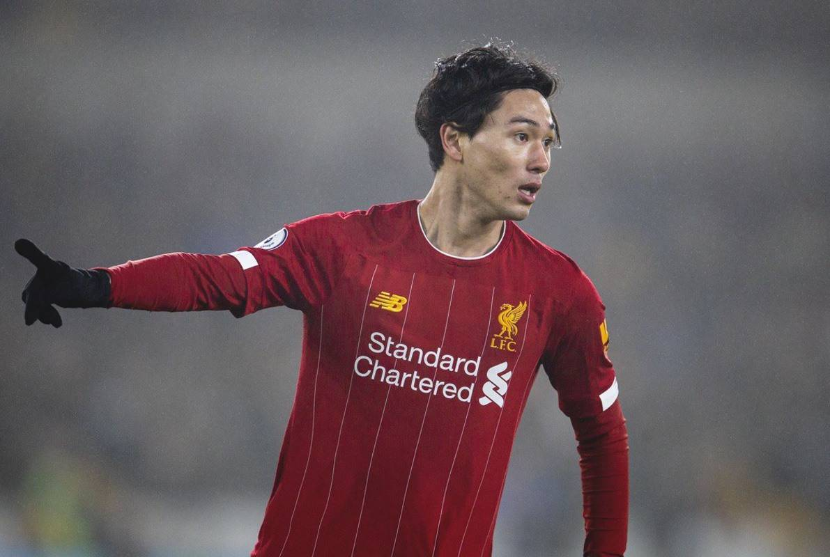 WOLVERHAMPTON, ENGLAND - Thursday, January 23, 2020: Liverpool's Takumi Minamino during the FA Premier League match between Wolverhampton Wanderers FC and Liverpool FC at Molineux Stadium. (Pic by David Rawcliffe/Propaganda)