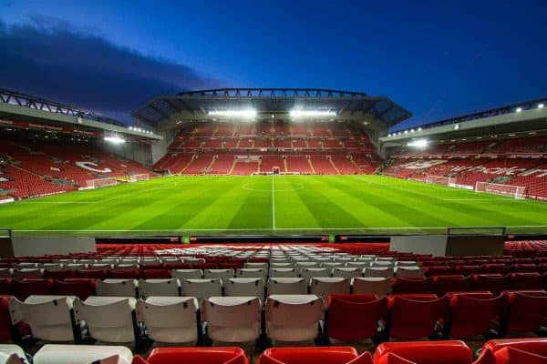 LIVERPOOL, ENGLAND - Tuesday, February 4, 2020: A general view of the recently re-developed Main Stand before the FA Cup 4th Round Replay match between Liverpool FC and Shrewsbury Town at Anfield. (Pic by David Rawcliffe/Propaganda)