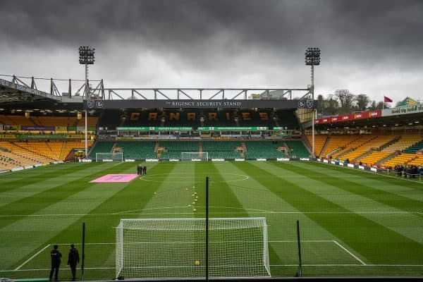 NORWICH, ENGLAND - Saturday, February 15, 2020: A general view of Norwich City's Carrow Road stadium pictured before the FA Premier League match between Norwich City FC and Liverpool FC at Carrow Road. (Pic by David Rawcliffe/Propaganda)