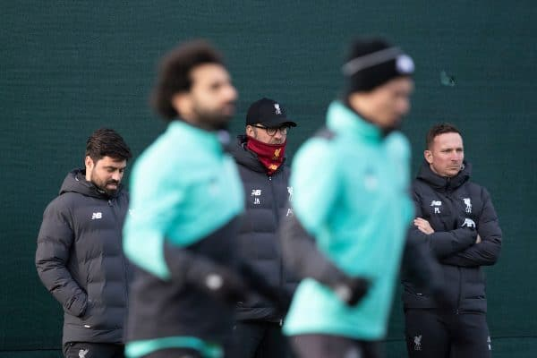 LIVERPOOL, ENGLAND - Monday, February 17, 2020: Liverpool's manager Jürgen Klopp during a training session at Melwood Training Ground ahead of the UEFA Champions League Round of 16 1st Leg match between Club Atlético de Madrid and Liverpool FC. (Pic by Paul Greenwood/Propaganda)