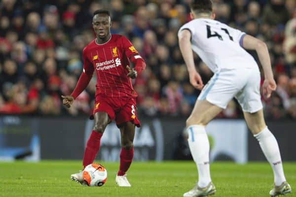 LIVERPOOL, ENGLAND - Monday, February 24, 2020: Liverpool's Naby Keita during the FA Premier League match between Liverpool FC and West Ham United FC at Anfield. (Pic by David Rawcliffe/Propaganda)