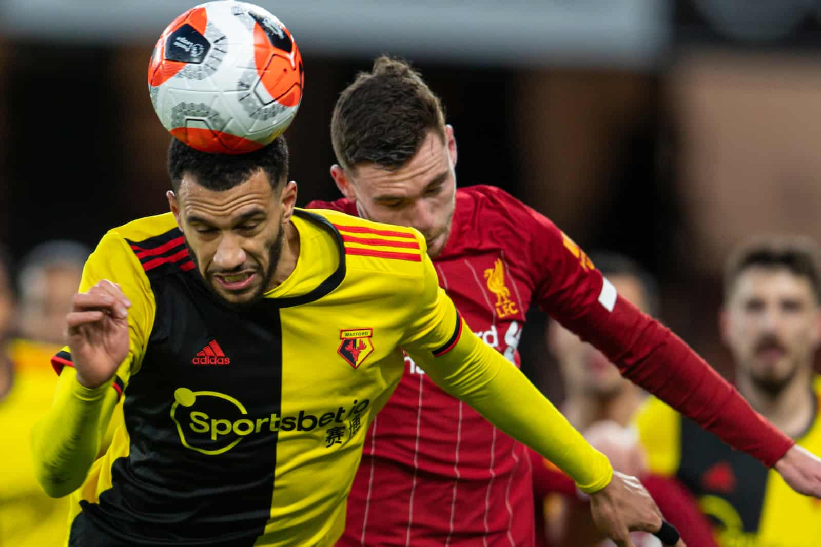 WATFORD, ENGLAND - Saturday, February 29, 2020: Watford's Étienne Capoue during the FA Premier League match between Watford FC and Liverpool FC at Vicarage Road. (Pic by David Rawcliffe/Propaganda