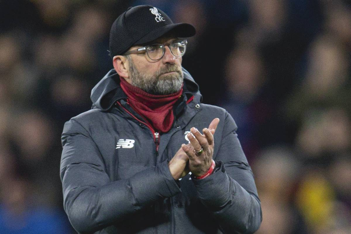 WATFORD, ENGLAND - Saturday, February 29, 2020: Liverpool's Jurgen Klopp during the FA Premier League match between Watford FC and Liverpool FC at Vicarage Road. (Pic by David Rawcliffe/Propaganda)
