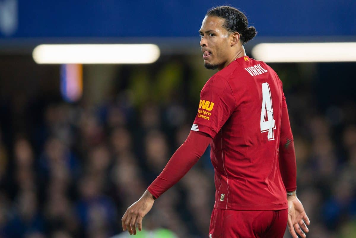 LONDON, ENGLAND - Tuesday, March 3, 2020: Liverpool's Virgil van Dijk during the FA Cup 5th Round match between Chelsea FC and Liverpool FC at Stamford Bridge. (Pic by David Rawcliffe/Propaganda)