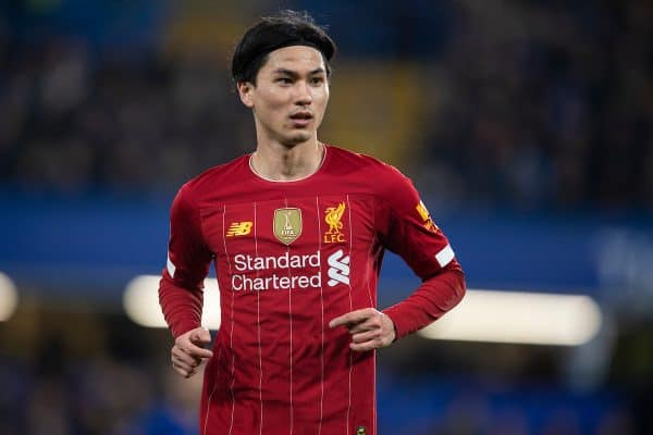 LONDON, ENGLAND - Tuesday, March 3, 2020: Liverpool's Takumi Minamino during the FA Cup 5th Round match between Chelsea FC and Liverpool FC at Stamford Bridge. (Pic by David Rawcliffe/Propaganda)