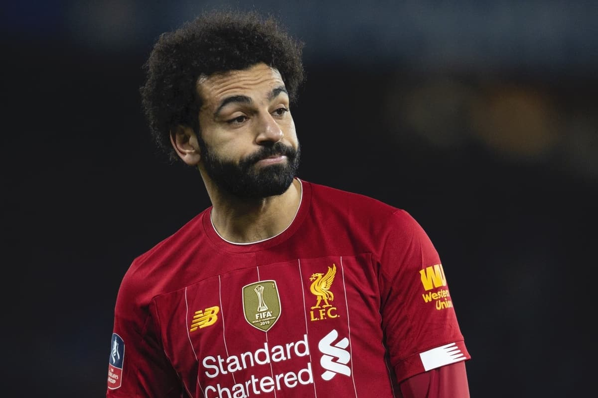 LONDON, ENGLAND - Tuesday, March 3, 2020: Liverpool's Mohamed Salah looks dejected during the FA Cup 5th Round match between Chelsea FC and Liverpool FC at Stamford Bridge. Chelsea won 2-0. (Pic by David Rawcliffe/Propaganda)