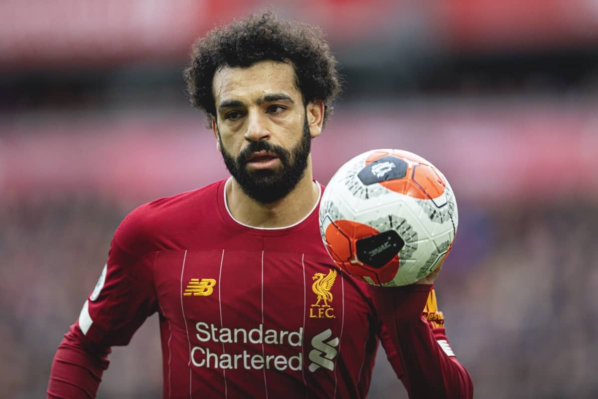 LIVERPOOL, ENGLAND - Saturday, March 7, 2020: Liverpool's Mohamed Salah during the FA Premier League match between Liverpool FC and AFC Bournemouth at Anfield. (Pic by David Rawcliffe/Propaganda)