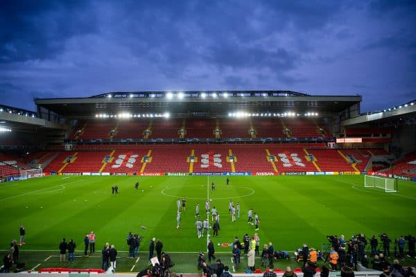 LIVERPOOL, ENGLAND - Tuesday, March 10, 2020: Club Atlético de Madrid players during a training session at Anfield ahead of the UEFA Champions League Round of 16 2nd Leg match between Liverpool FC and Club Atlético de Madrid. (Pic by David Rawcliffe/Propaganda)