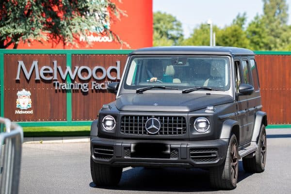LIVERPOOL, ENGLAND - Wednesday, May 20, 2020: Liverpool's Fabio Henrique Tavares 'Fabinho' leaves the club's Melwood Training Ground as the players return to training ahead of a planned restart of the Premier League during the Coronavirus pandemic. (Pic by David Rawcliffe/Propaganda)