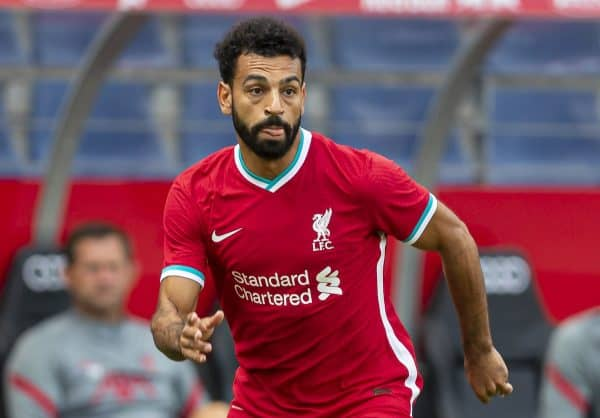 Liverpool's Mohamed Salah during a preseason friendly match between FC Red Bull Salzburg and Liverpool FC at the Red Bull Arena. (Pic by Propaganda)