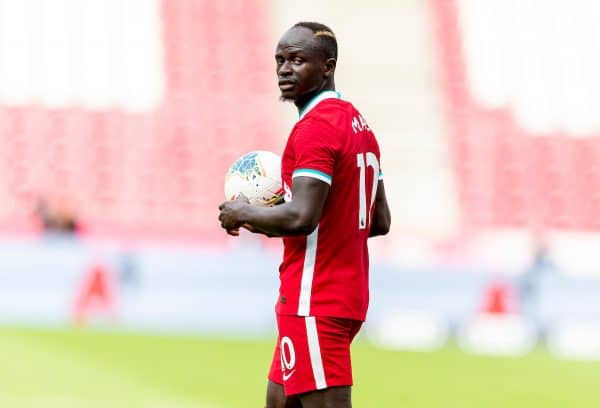 SALZBURG, AUSTRIA - Tuesday, August 25, 2020: Liverpool's Sadio Mané during a preseason friendly match between FC Red Bull Salzburg and Liverpool FC at the Red Bull Arena. (Pic by Propaganda)