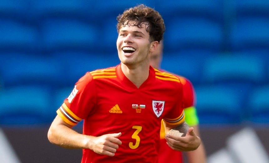CARDIFF, WALES - Sunday, September 6, 2020: Wales' Neco Williams celebrates after scoring the winning goal in injury time to seal a 1-0 victory during the UEFA Nations League Group Stage League B Group 4 match between Wales and Bulgaria at the Cardiff City Stadium. (Pic by David Rawcliffe/Propaganda)