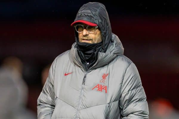 LINCOLN, ENGLAND - Thursday, September 24, 2020: Liverpool's manager Jürgen Klopp during the pre-match warm-up before the Football League Cup 3rd Round match between Lincoln City FC and Liverpool FC at Sincil Bank. (Pic by David Rawcliffe/Propaganda)
