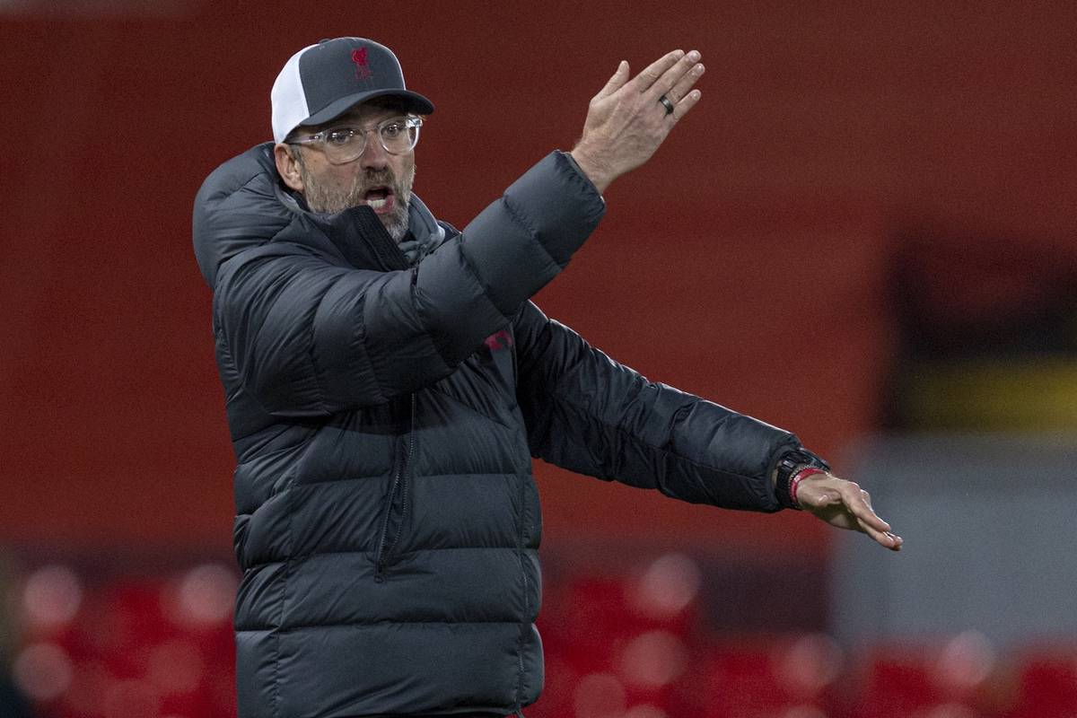 LIVERPOOL, ENGLAND - Wednesday, November 25, 2020: Liverpool's manager Jürgen Klopp during the UEFA Champions League Group D match between Liverpool FC and Atalanta BC at Anfield. (Pic by David Rawcliffe/Propaganda)