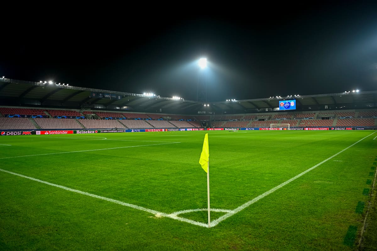 HERNING, DENMARK - Wednesday, December 9, 2020: A general view of the Herning Arena before the UEFA Champions League Group D match between FC Midtjylland and Liverpool FC. (Pic by Lars Møller/Propaganda)