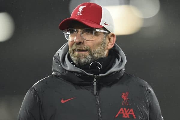 LONDON, ENGLAND - Sunday, December 13, 2020: Liverpool's manager Jürgen Klopp after the FA Premier League match between Fulham FC and Liverpool FC at Craven Cottage. The game ended in a 1-1 draw. (Pic by David Rawcliffe/Propaganda)