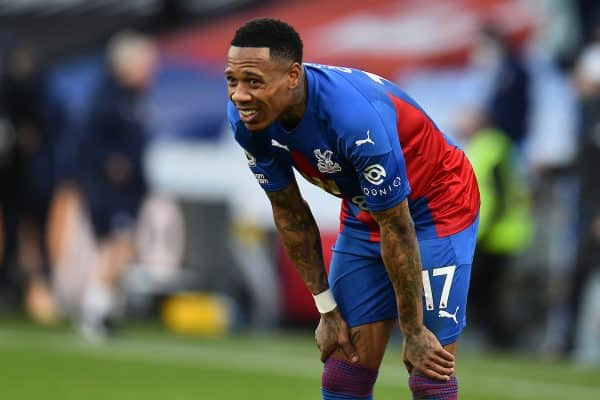 LONDON, ENGLAND - Saturday, December 19, 2020: Crystal Palace's Nathaniel Clyne looks dejected during the FA Premier League match between Crystal Palace FC and Liverpool FC at Selhurst Park. (Pic by David Rawcliffe/Propaganda)