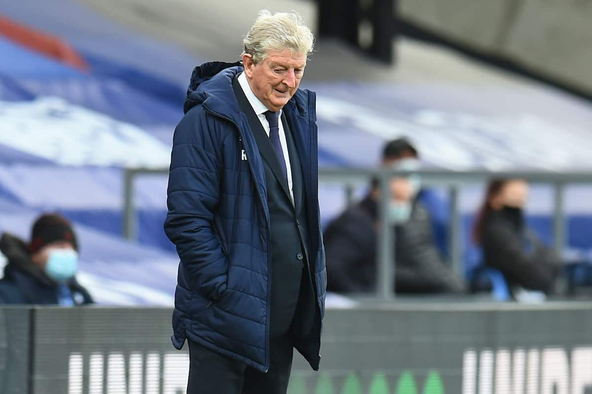 LONDON, ENGLAND - Saturday, December 19, 2020: Crystal Palace's manager Roy Hodgson during the FA Premier League match between Crystal Palace FC and Liverpool FC at Selhurst Park. (Pic by David Rawcliffe/Propaganda)