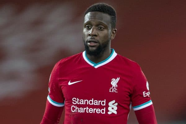 LIVERPOOL, ENGLAND - Thursday, January 21, 2021: Liverpool's Divock Origi during the FA Premier League match between Liverpool FC and Burnley FC at Anfield. (Pic by David Rawcliffe/Propaganda)